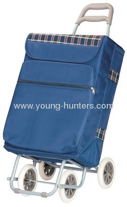 eco-friendly aluminium folding shopping trolley