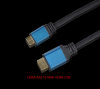 Blue color nylon Sleeve metal shell flat Zinc 1.4 Hdmi Cable