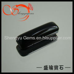 Black Rectangle Glass Gems for Jewelry Decoration