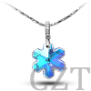 925 sterling silver pendant with Swaroski Crystal