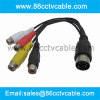 DIN 5 Pin to 4 RCA Cable, Audio Video Cable, AV cable