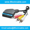 SCART to 3 RCA cable, Audio Video Cable