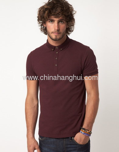 Mens Fashion Polo Shirt With All Over Polka Dot