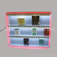 acrylic cigarette cabinet display