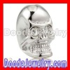 silver skull shamballa charm beads with Clear Crystal stone wholesale