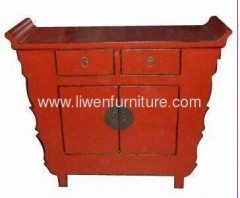Oriental red antique chest