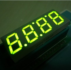 4 digit 0.56 inches super bright green common anode seven segment LED Clock Display