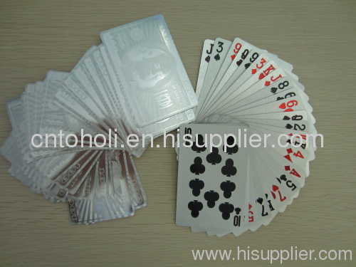 Silver plated playing card
