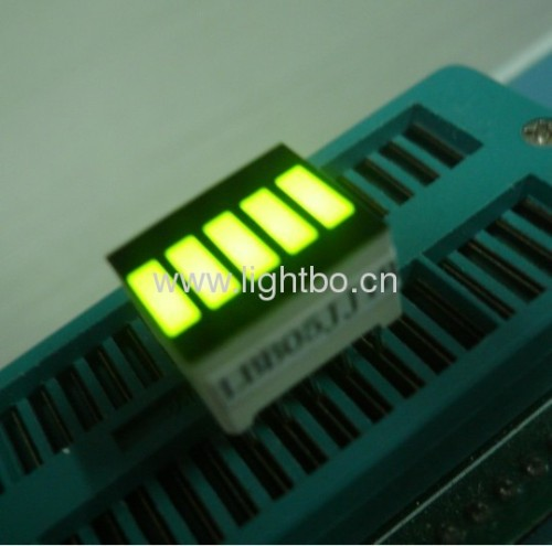 12.7x10.1mm Super Bright Green 5-Segment LED Light Bar