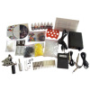 Tattoo Kit 1 Gun Machine With Power Supply Grips Back Stem Tube Ink Needles