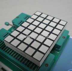 Ultra red 4.9mm 5 x 7 square dot matrix led display for elevator / lift position indicator