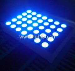 Ultra bright blue dot matrix led display 3mm 5*7 row anode column cathode for floor number indicator