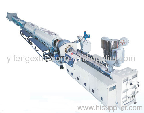 PE plastic pipe extruding production line