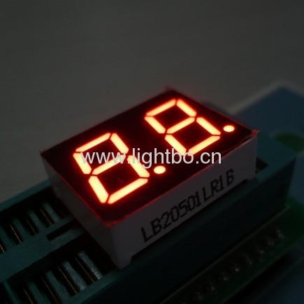 0.50 inches Dual digit anode super bright red led seven segment displays