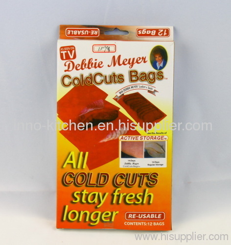 DEBBIE MEYERS COLD CUTS BAGS 12 RE-USABLE 2 BOX