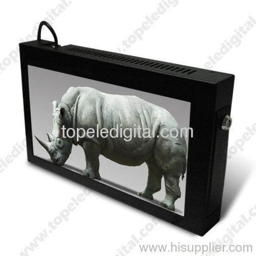 Chain shops/stores Goods shelf mounting/wall hanging 10.1 inch lcd wall mount glass display case