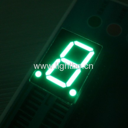 Pure Green 0.8 inches single digit seven segment led displays