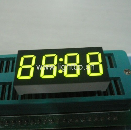 0.36inch common anode super bright green 4-digit 7-segment LED Display for Clock Indicator