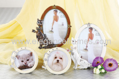 Zinc Alloy Epoxy Coated- Jewels inlay-Cat and Dog Pet Mini Photo Frames
