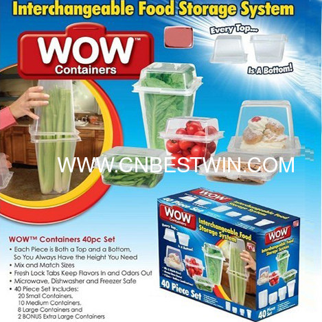 Interchangeable Food Storage Containers 40pcs