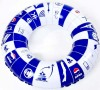 Pvc inflatable swim ringl with customize logo