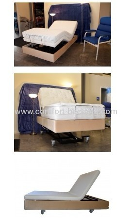 Nursing adjustble bed with lift function