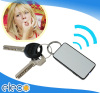 Electronic key finder with whistle and LED light