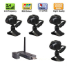2.4GHz wireless usb dvr with 4 pcs mini wireless cameras