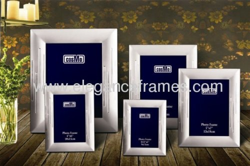 Silver Plated Aluminum Picture Frame