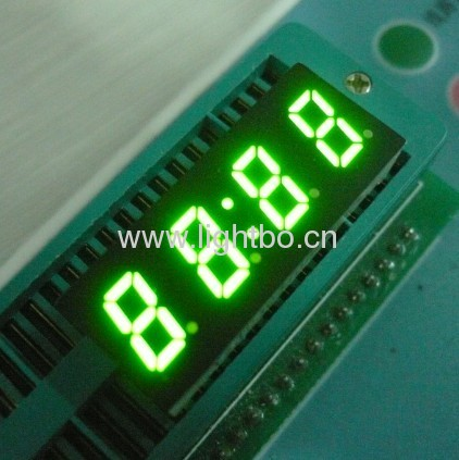 0.3 inch (7.6mm) 4 digit common anode green 7 segment led clock display