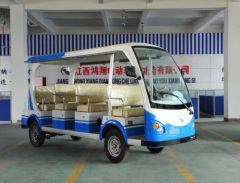 12 Seats Electric Sightseeing Vehicle (Blue)