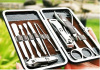 10pcs luxury stainless steel manicure set