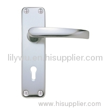 2 X Polished Aluminium lever lock door handles