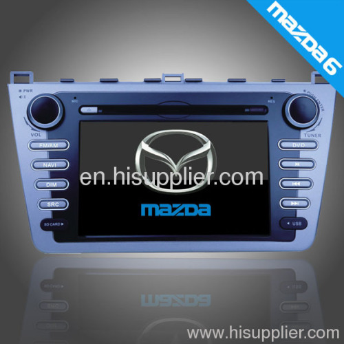 New Mazda6 Ruiyi car dvd player gps radio am/fm tuner/RDS bt dvb-t usb sd slot high difition tft panel
