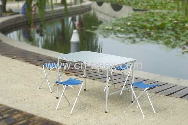 Foldable picnic table Aluminum frame