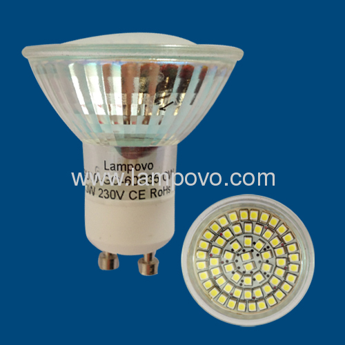 E14 GU10 SMD3528 3W Glass Cup LED SPOTLIGHT