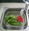 fruit washing basket ,stainless steel 304 wire