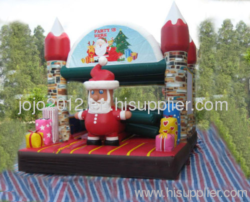 Inflatable santa bouncer