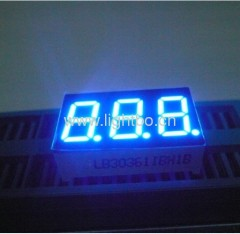 3 digit 0.36-inch common cathode ultra bright blue 7 segment led display for instrument panel