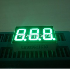 "pure green common anode 3 digit 0.36"" seven segment led displays"