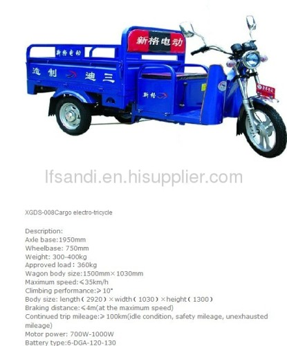 Professional Manafacturer Electric tricycle for cargo