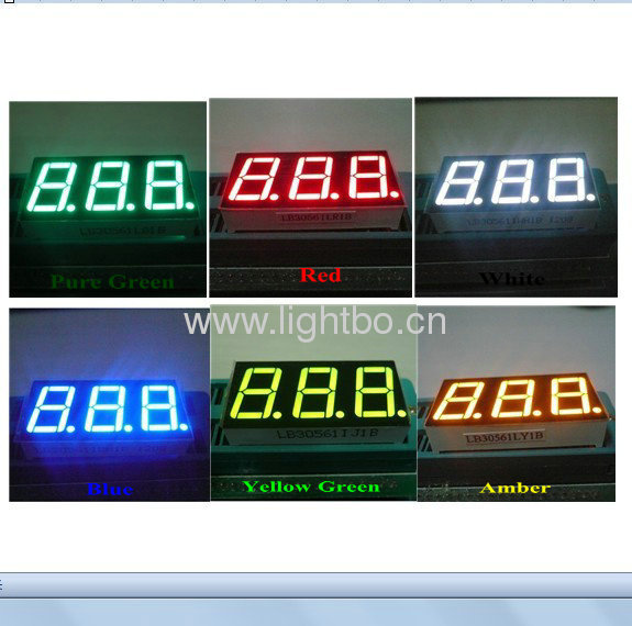 Triple Digit 0.56-inch Series Seven Segment LED Displays