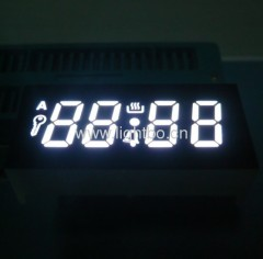 "4 digit 0.41"" common cathode pure white 7 segment led digital oven timer displays"