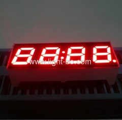 "Super bright red 0.28"" common Anode four-Digit 7-segment LED clock Displays"