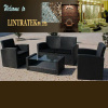 Outdoor Gray Rattan Wicker Furniture Garden Sectional Sofa