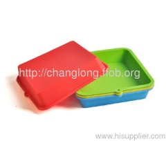 Square shaped silicone pan, silicone cake mould