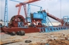 cleaning sand-excavating ship