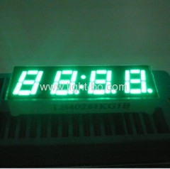 4 Digit 0.28inch common anode pure green small size 7segment led clock display