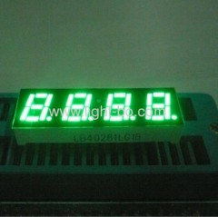 "0.28"" common cathode pure green 4-Digit led seven segment displays"