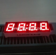"Four digit 0.28"" common anode super bright red 7 segment small led clock displays"